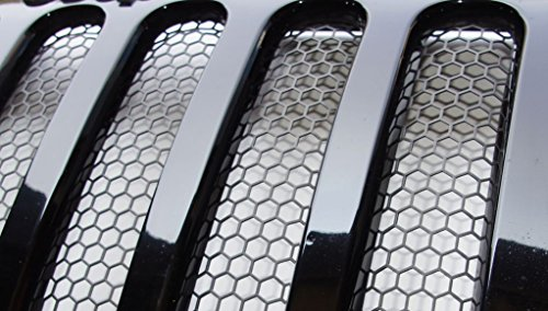 Best Coast Products 26155-Steel, custom 3D formed grille insert- Jeep wrangler JK (all Models) - Matte Black