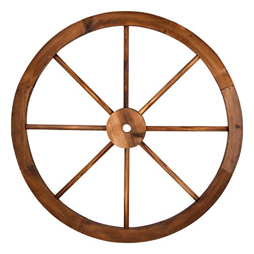 Shine Company Decorative Wagon Wheel Trellis, Burnt ()