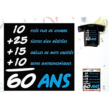 T-Shirt cumpleaños Addiction 60 años para hombre: Amazon.es ...
