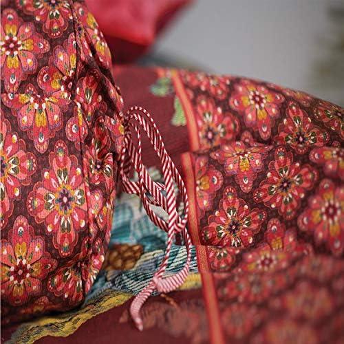Drap de lit Poppy Stitch - 155 x 220 cm - Rouge