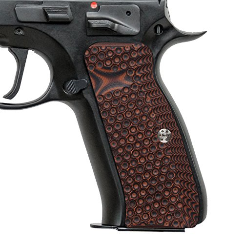 Cool Hand Grips for CZ 75 Full Size Palm Swell Back Style, Free Screws Included, Mag Release, Orange/Black G10? Golf Ball Dimple Texture, Brand, H6-TJ7-28 (Best Cz 75 Grips)
