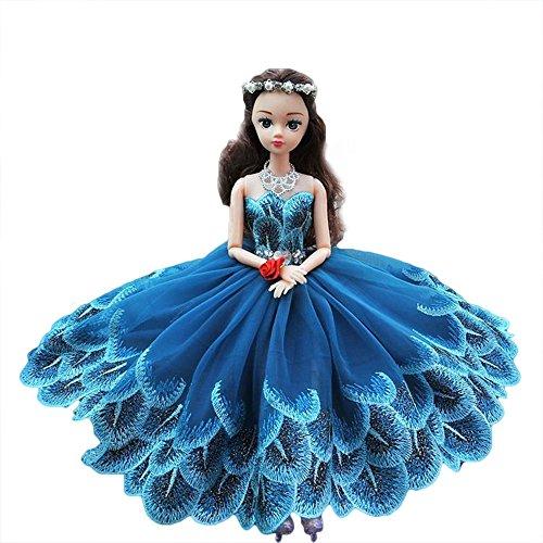 12 Joint Moveable Fairy Doll for Kids Handmade Wedding Dress