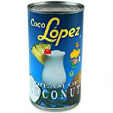 Coco Lopez Coconut Cream Tins 425g - Set of 6 | Real Cream of Coconut - Pina Colada Cocktail Mixers