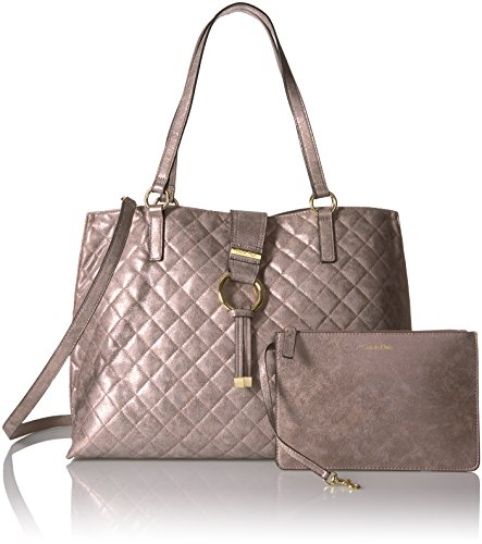 Calvin Klein Quilted Distressed Novelty Tote, Mtallic Taupe by Calvin Klein (Image #6)