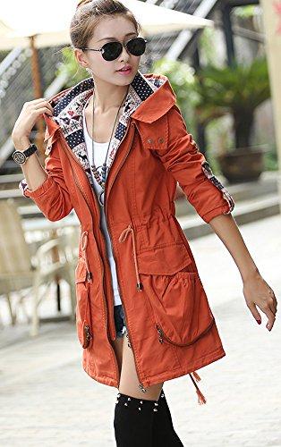 Parka Missfox Coat Long Capuche Trench Manteau Femmes PAXABZp