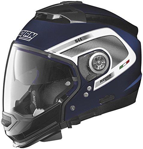 Nolan N-44 N-Com Tech Helmet, Distinct Name: Cayman Blue/White, Gender: Mens/Unisex, Helmet Category: Street, Helmet Type: Modular Helmets, Primary Color: Blue, Size: 2XS N445277920229