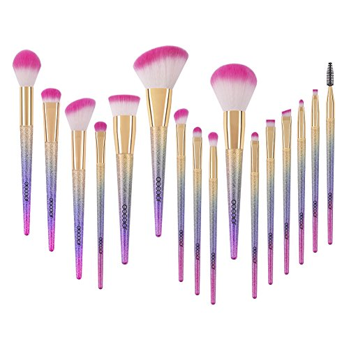 Docolor Makeup Brushes 16Pcs Fantasy Make Up Brushes Set Foundation Concealer Eyeshadow Brush Kit