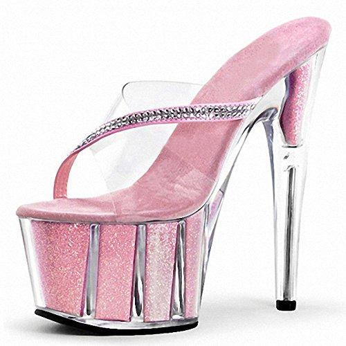 Fashion show gut 15 15 15 zentimeter hohen absätzen Rosa pantoffeln 9f437b
