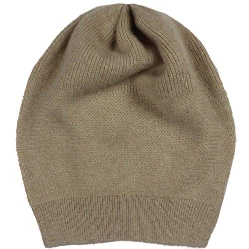 WaySoft 100% Cashmere Beanie for Women in a Gift Box, Oversized Women Beanie Hat (Light - Oversized Cap Wool