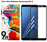 Annure Full [Shatterproof] Edge to Edge Tempered Glass Screen Protector for Samsung Galaxy A8+ / A8 Plus - Black
