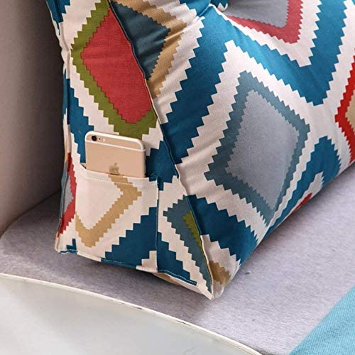 XZ Coussin moderne de chevet Triangle Tatami, lecture oreiller, Grand Sac oreiller doux Coussin lombaire,B,100 * 25 * 50 cm (39 * 10 * 20 pouces)