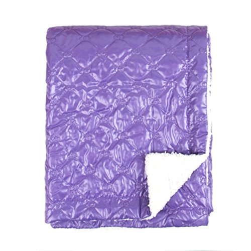 Tadpoles Quilted Nylon Puffer Baby Blanket, Grape