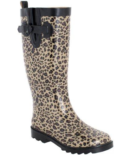 Capelli New York Shiny Baby Leopard Printed Ladies Tall Spor