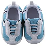 Luvable Friends Sports Shoes for Baby, Blue, 0-6 Months