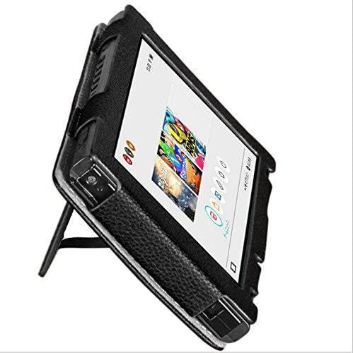 Hzjundasi cuero Case Cover Stand Holder Bag Sleeve funda protectora bolsa bolso caja para Nintendo Switch Console& Controller Joy-Con Color Black: Amazon.es: Videojuegos