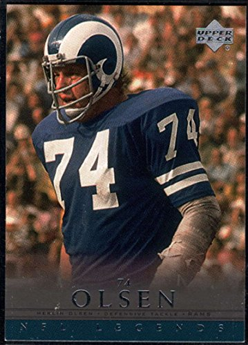 - Football NFL 2000 Upper Deck Legends #80 Merlin Olsen LA Rams