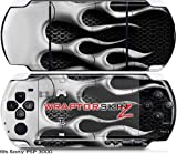Sony PSP 3000 Decal Style Skin - Metal Flames Chrome (OEM Packaging)