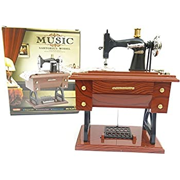 Amazon KINGSO Vintage Mini Sewing Machine Music Box Birthday Amazing Sewing Machine Music Box