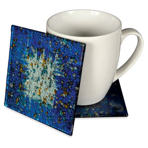 angelstar-19047-handmade-and-hand-painted-glass-blue-ocean-coasters-4-inch-set-of-4