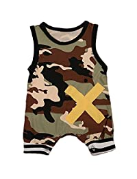 Baby Boy Camo Romper Jumpsuit Outfits Casual Clothes
