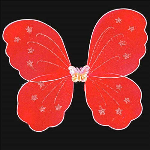 Party Diy Decorations - Single Layer Butterfly Wing Cosplay Colorful Kids Girl Costume Fairy Fancy Dress Party Halloween - Child Custom Lantern Garland Feather Moustache Wedding Snail Backdrop Ch]()