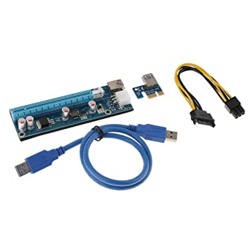 Graphics Card Extension Cable PCIE x1 to x16 3.0 Full Speed for Bitcoin Mining