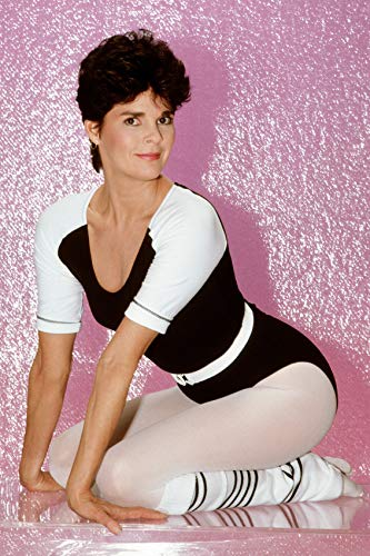 Ali Macgraw Studio Pose with Short Hair Against Pink Backdrop 24x18 ()