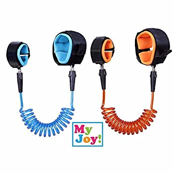 (2 Pack) Child Wrist Leash: Anti Lost Belt, Harness, Strap, Link, Safety, Safe Skin Friendly Anti Prickling Cotton Straps, Double Velcro [4.11 ft + 8.2 ft]