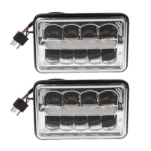 Dolity 2 Pieces 45W 4''X6'' LED Headlight Hi/Lo Beam for Jeep Wrangler YJ Cherokee