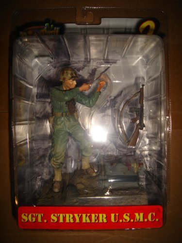 - Dusty Trail Toys Series 2 Sergeant Stryker USMC WWII Pacific Theater Action Figure