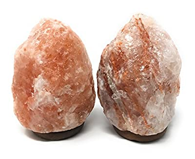 "NC Naturals 5-7"" Himalayan Salt Lamp, Set of 2"