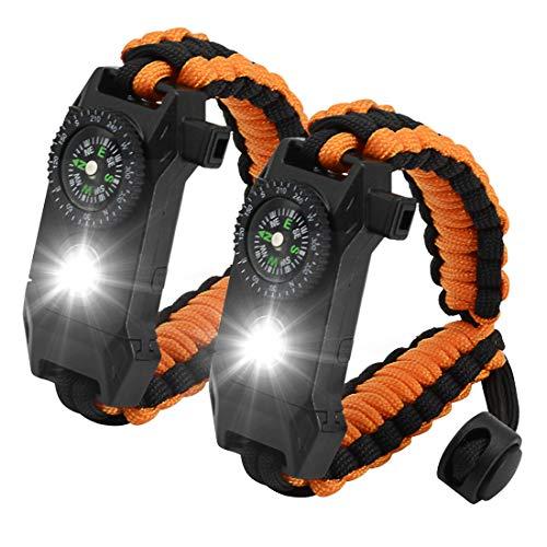 NEW-Vi Adjustable Paracord Survival Bracelet, Tactical Emergency Gear