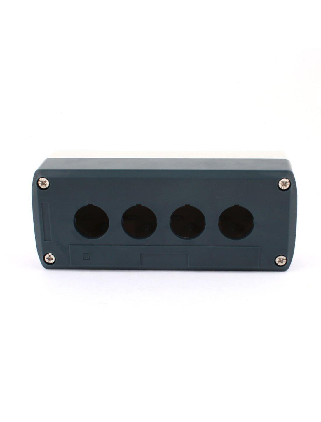 4 Botón agujero sellado eléctrico Pulsador estación de Control de la caja: Amazon.com: Industrial & Scientific