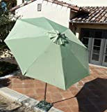 9ft aluminum market umbrella with Crank & Tilt – Sage Green Review