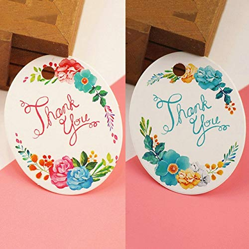 Lysee 50pcs/Pack DIY Gift Paper Tags Heart Oval Shape Tag Thank You Label Wedding Party Paper Hang Tags Price Label Hang Tag Cards - (Color: Oval)