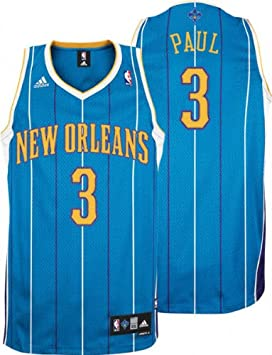 new styles 96967 5616f adidas Chris Paul Jersey Teal Swingman #3 New Orleans ...