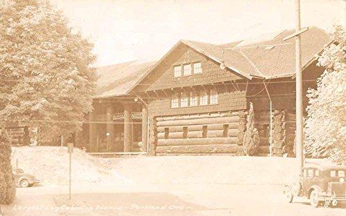 Portland Oregon Largest Log Cabin in World Real Photo Antique Postcard J66051