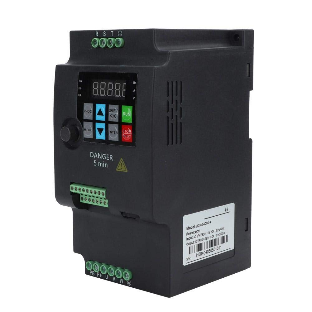 communication RS485 commande multiple programmable de vitesse de 16 segments variateur de fr Convertisseur de fr/équence triphas/é de 4kw 380V convertisseur de fr/équence de moteur dinverseur de VFD