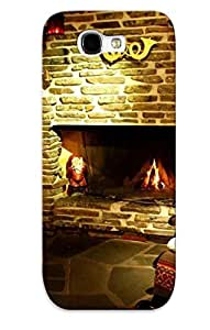 Hot HuyavuP5976AgMaS Christmas Fireplace Tpu Case Cover Series Compatible With Galaxy Note 2