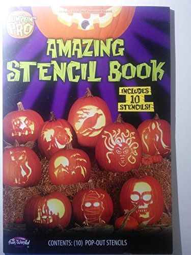 Fun World Unisex-Adult's Amazing Stencil Book, Multi, Standard ()