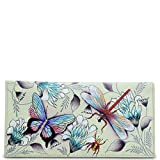 Anuschka Women's Genuine Leather Checkbook Cover | Hand Painted Original Artwork | Wondrous Wings