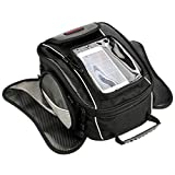 Oil Fuel Tank Bag,GES Universal Motorcycle Oil Fuel Tank Bag Strong Magnetic Motorbike Riding Bag with Waterproof Cover Black