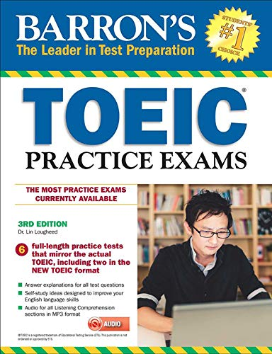 Barron's TOEIC Practice Exams with MP3 CD, 3rd Edition by BARRONS
