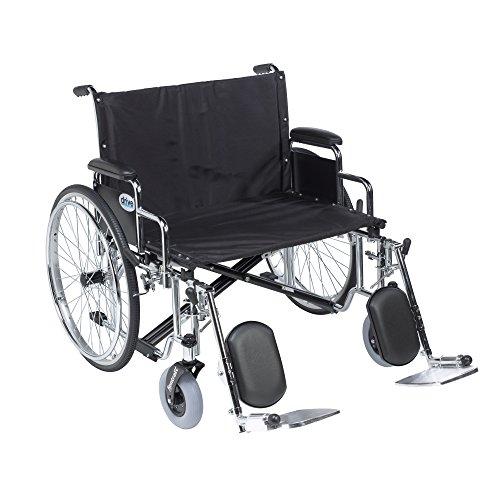 Drive Medical STD30ECDDA-ELR Sentra Ec Heavy Duty Extra-Extra-Wide Wheelchair, - Drive Sentra Wheelchair Reclining
