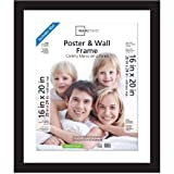 Mainstays 20x24 Matted to 16x20 Wide Gallery Poster and Picture Frame Black