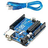 Arduino Uno R3 Development Board, Kit Microcontroller Based on ATmega328 and ATMEGA16U2 with USB Cable for Arduino DIY Projects