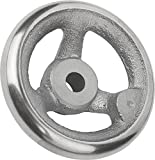 Kipp 06271-0250X26 Grey Cast Iron Handwheel without Machine Handle, Metric, 250 mm Diameter, 26 mm Bore Size