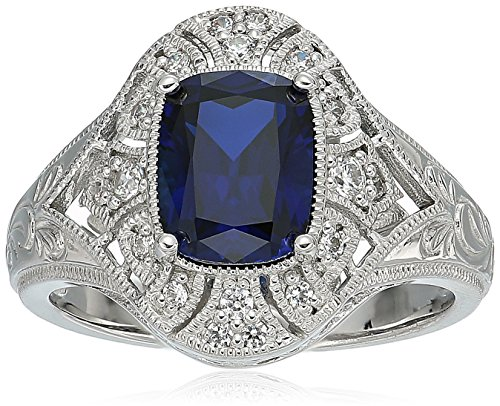 platinum sapphire ring - 1