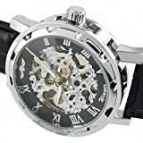 Youyoupifa Men's Black Leather Luxury Stainless Case Self-Wind Up Mechanical Automatic Watch, Watch Central