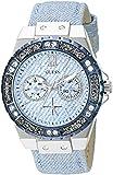 GUESS Women's Stainless Steel Crystal Denim Watch, Color: Blue (Model: U0775L1)